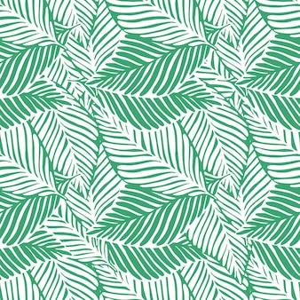 Drukuj streszczenie zielonej dżungli. egzotyczna roślina. tropikalny wzór, liście palmowe bezszwowe tło kwiatowy.