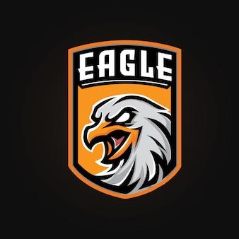 Drużyna e-sportowa logo maskotki orła