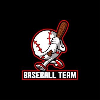 Drużyna mistrza drużyny baseballowej maskotka kreskówka