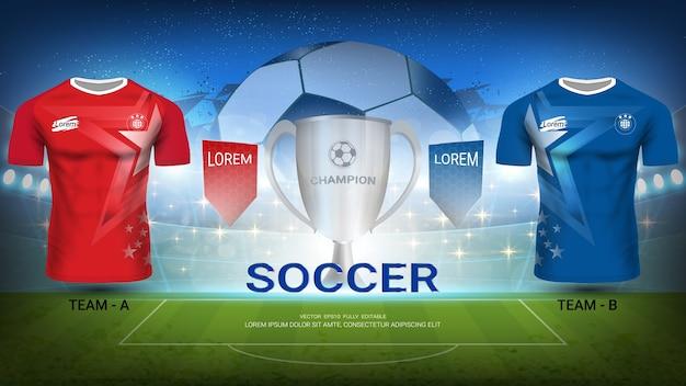 Drużyna piłkarska a a drużyna b, finałowy mecz turnieju sportowego