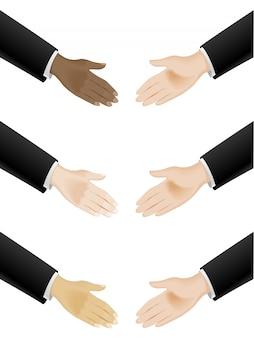 Drżenie rąk biznesowych
