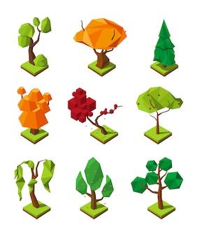 Drzewa izometryczne low poly