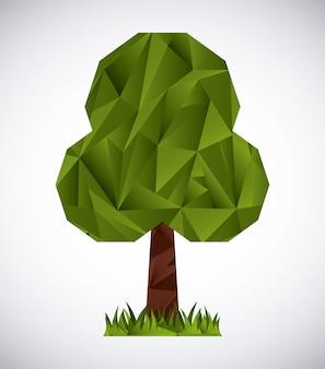 Drzewa origami projekt, ilustracji wektorowych eps10 grafiki