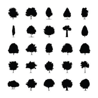 Drzewa wypełnione piktogramy