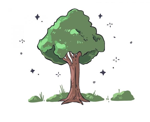 Drzewo doodle drzewa