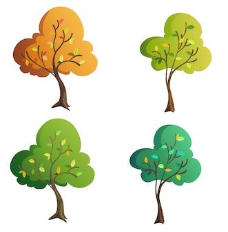 Drzewo ilustracji dla kreskówek