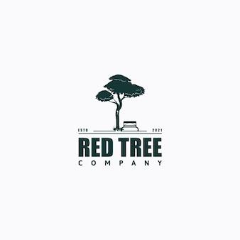 Drzewo logo vintage retro