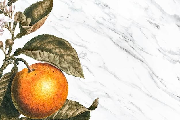 Drzewo pomarańczowe tło