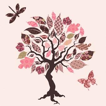 Drzewo wzór tła