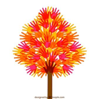 Drzewo z rąk