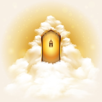 Drzwi do raju koncepcja tło