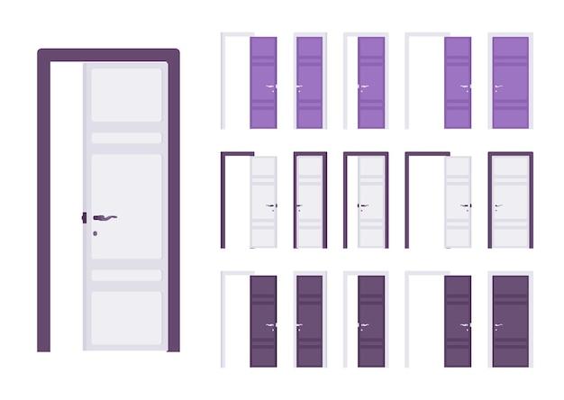 Drzwi nowoczesny zestaw, wejście do budynku, pok