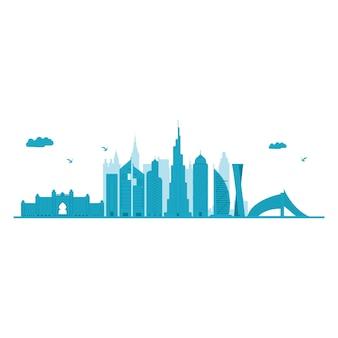 Dubaj skyline.