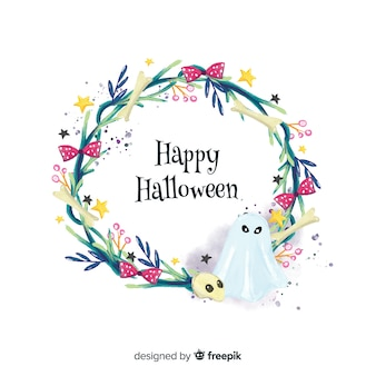 Duch akwarela tło halloween