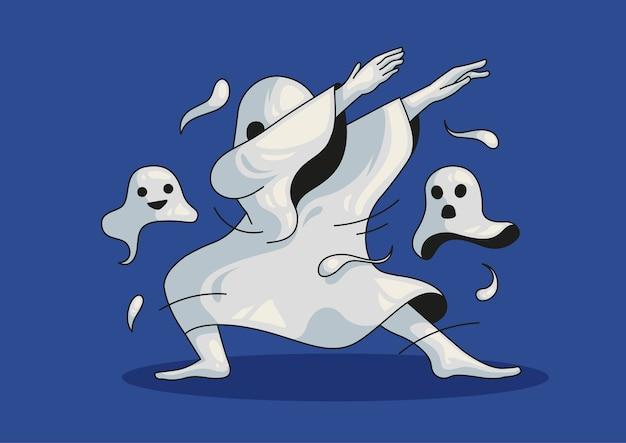 Duch dabbingujący halloween