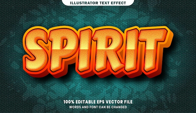 Duch efekt edytowalnego stylu tekstu 3d