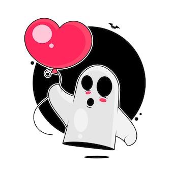Duch ilustracji na białym tle dla twoich potrzeb wesołego halloween