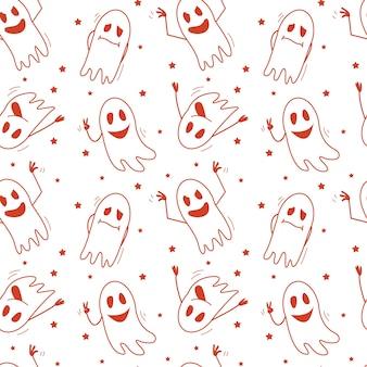 Duchy wzór halloweenowy nastrój