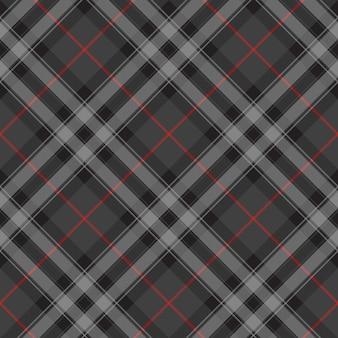 Duma szkocji srebrny kratę tekstura bezszwowe tło ukośne