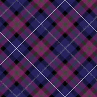Duma szkockiej kraty tkaniny przekątnej tekstura bezszwowe tło