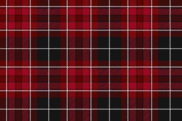 Duma walia tkaniny tekstylnego czerwonego tartanu bezszwowy horyzontalny tło