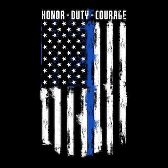 Dumny z tej flagi - honor duty courage