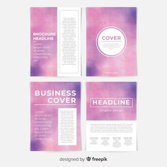 Duotone akwarela broszura szablon