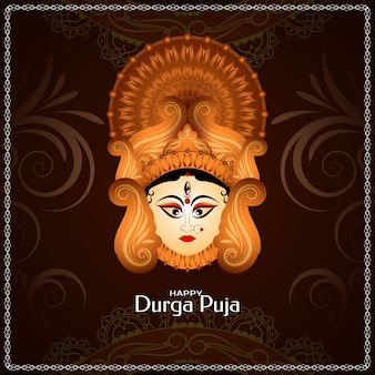 Durga puja kulturalna karta z pozdrowieniami festiwalu indyjskiego