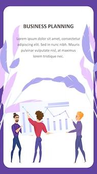 Duża analiza danych grath wektor mobile banner