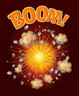 Duża fajna ilustracja wybuchu
