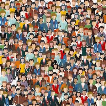 Duża grupa ludzi biznesu