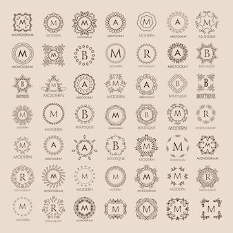 Duża grupa luksusowych monogramów