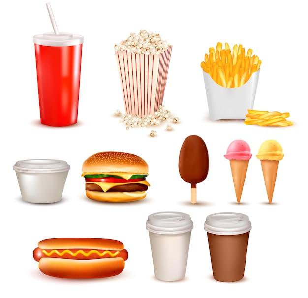 Duża grupa produktów typu fast food