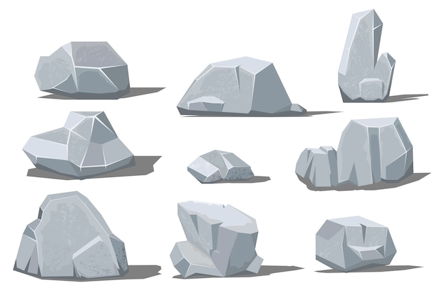 Duża i mała skała z cieniem