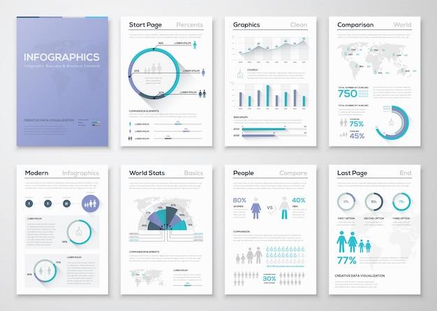 Duża kolekcja broszur i grafiki firmowej