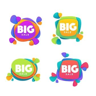 Duża kolekcja logo sprzedaży