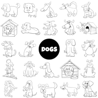 Duża kolekcja postaci psów i szczeniąt