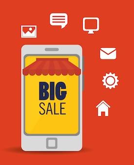 Duża sprzedaż mediów internetowych aplikacji smartphone