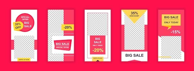 Duża sprzedaż szablon transparent mediów społecznościowych