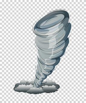 Duża tornado na białym tle grafiki