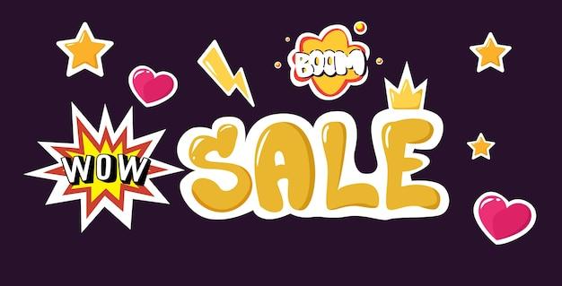Duża wyprzedaż czarny piątek banner oferta specjalna promocja marketingowa koncepcja świątecznych zakupów