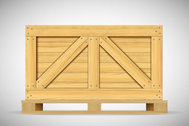 Duże drewniane pudełko do ciężkiej dostawy