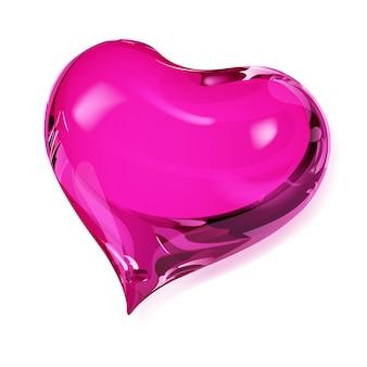 Duże nieprzezroczyste serce w różowych kolorach