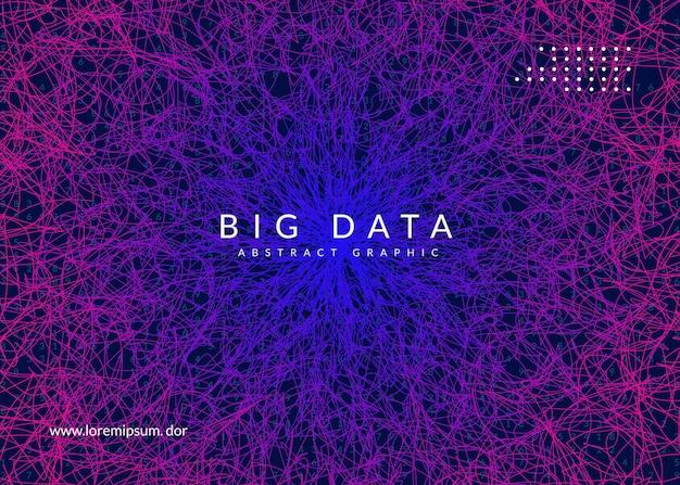 Duże tło danych. koncepcja abstrakcyjna technologii cyfrowej. sztuczna inteligencja i głębokie uczenie. wizualizacja techniczna dla szablonu interfejsu. tło wektor dużych danych.