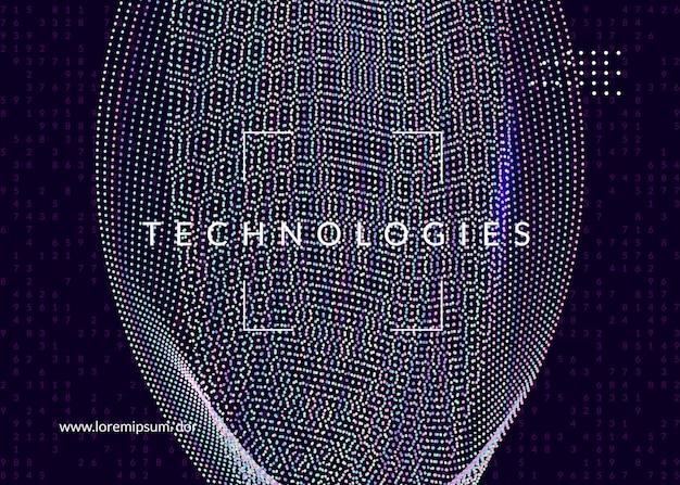 Duże tło danych. technologia wizualizacji, sztucznej inteligencji, głębokiego uczenia i obliczeń kwantowych. szablon projektu dla koncepcji chmury. tło wektor dużych danych.