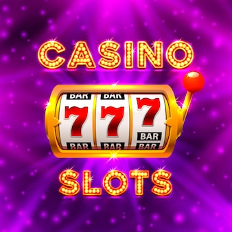 Duże wygrane automaty 777 banerowe kasyno. ilustracja wektorowa