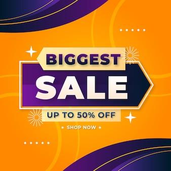 Duży baner sprzedaży i oferta tła z edytowalnymi efektami tekstowymi