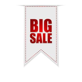 Duży baner sprzedaży lub wstążka. oferta specjalna