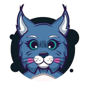 Duży głowa bobcat avatar