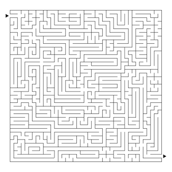 Duży kwadratowy labirynt
